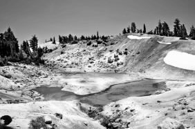 Bumpass Hell in B&W